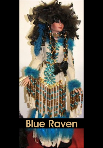 Blue Raven by Rustie - Rustie Dolls - Native American Indian