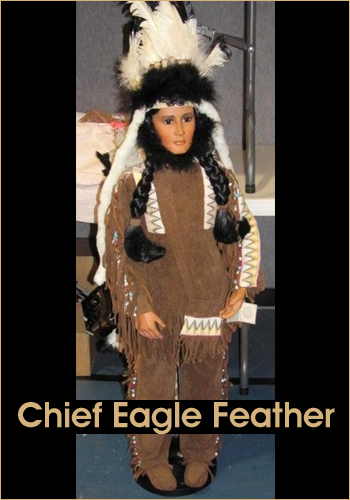 Chief Eagle Feather by Rustie - Rustie Dolls - Native American Indian