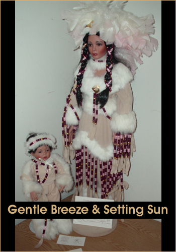 Gentle Breeze and Setting Sun by Rustie - Rustie Dolls - Native American Indian