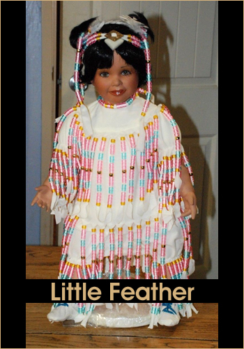 Little Feather by Rustie - Rustie Dolls - Native American Indian