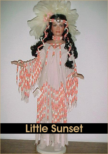 Little Sunset by Rustie - Rustie Dolls - Native American Indian