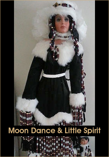 Moon Dance and Little Spirit by Rustie - Rustie Dolls - Native American Indian