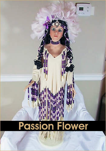 Passion Flower by Rustie - Rustie Dolls - Native American Indian