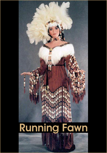 Running Fawn by Rustie - Rustie Dolls - Native American Indian