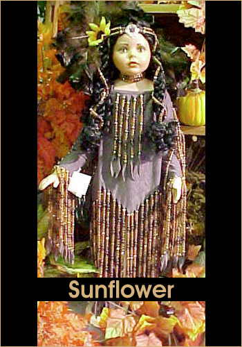 Sunflower by Rustie - Rustie Dolls - Native American Indian