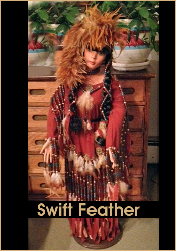 Swift Feather by Rustie - Rustie Dolls - Native American Indian