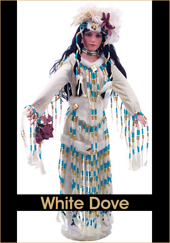 White Dove by Rustie - Rustie Dolls - Native American Indian